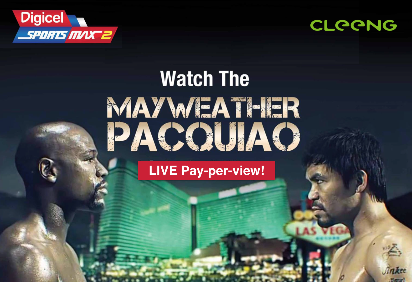 Mayweather Pacquiao pay per view powered by Cleeng