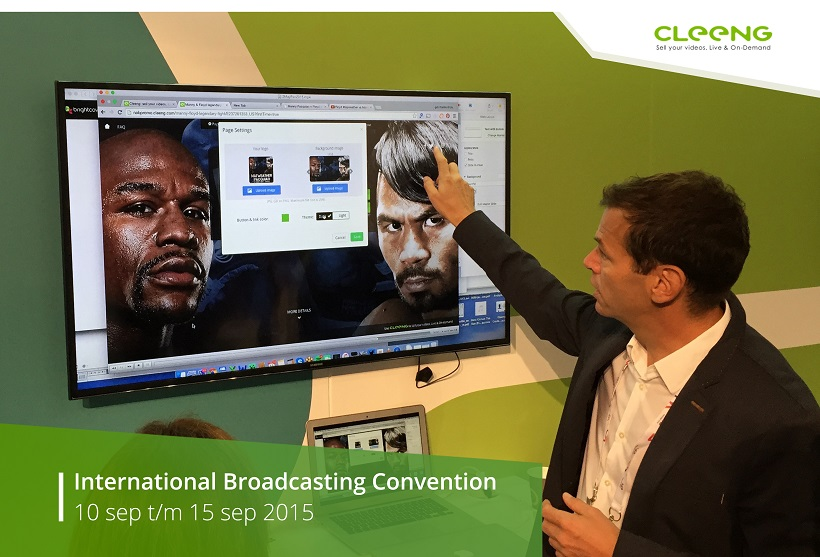 Gilles Domartini presents Cleeng Portal at IBC 2015