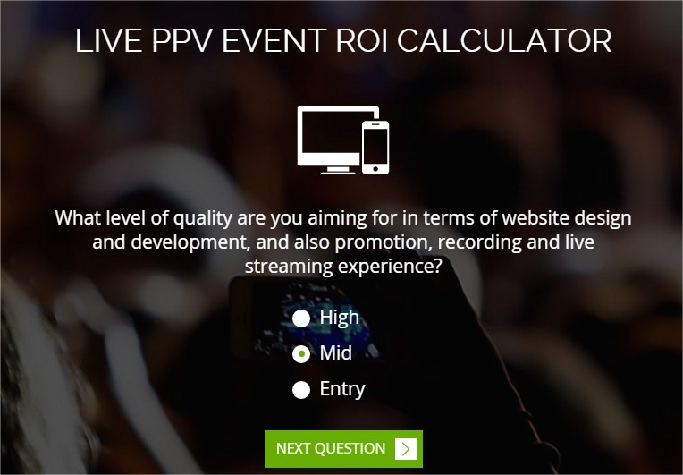 Quality of stream - ROI calculator by Cleeng