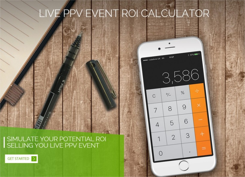 Live PPV ROI calculator by Cleeng