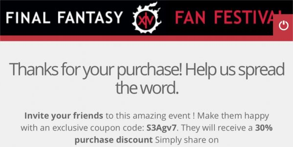Final fantasy coupon strategy