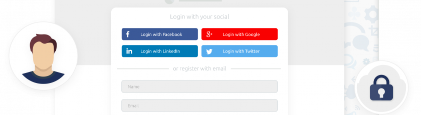 Social login for video e-commerce