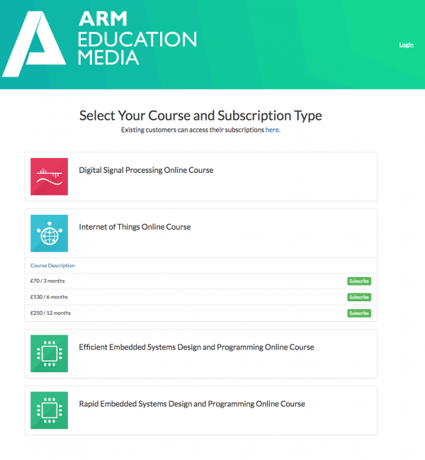 ARM Education Media and Cleeng subscriptions