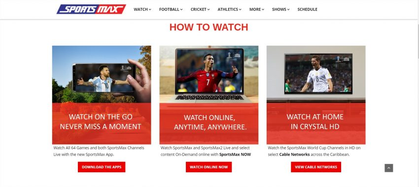 SportsMax Cleeng World Cup 2018 online broadcast