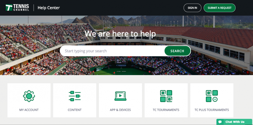 Tennis Channel Help Center - powered by Cleeng