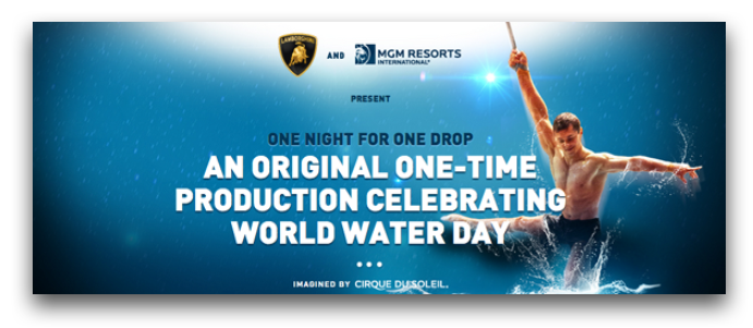 Cirque Du Soleil, One Drop Foundation, world water day, cleeng ppv, vod
