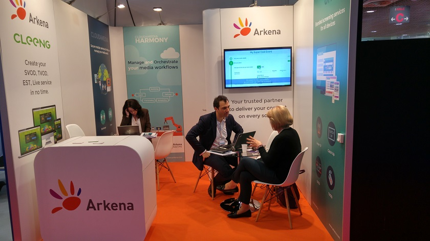 Cleeng and Arkena at MIPTV 2016